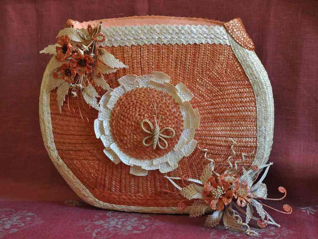Вязаная сумка из соломки - Вязание - Страна Мам